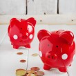 Two red piggy bank — Stock Photo #40449879
