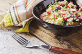 Vegetable salad and crab meat — Photo