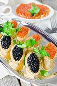 Festive table seafood — Stock Photo