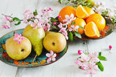 Pears and oranges  — Stock Photo