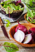 Sliced red onion — Stock Photo