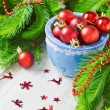Christmas red balls — Stock Photo #50081903