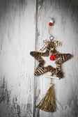 Christmas star made of twigs — Stockfoto