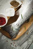 Tail of salmon — Stock Photo