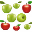 Stock Photo: Fruits-apples on white background