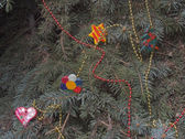 Fancy decorated spruce — Stock fotografie