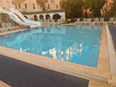 Pool at Turkish hotel — Stock Photo