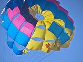 Multicolored parachute sea — Stok fotoğraf