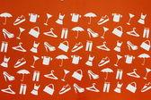 Icons Clothing, footwear, haberdashery — Stock Photo