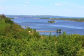 Beautiful countryside and the river Dnepr — Stock Photo