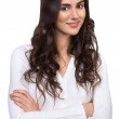 Bright picture of happy and smiling woman — Stock Photo