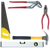 Set of different tools on white background — Стоковое фото