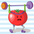 Sporty Tomato — Stock Vector