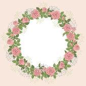 Blumen kranz — Stockvektor