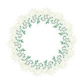 Krans van planten — Stockvector