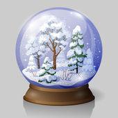Snow globe — Cтоковый вектор