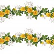 Wreath of yellow roses — Imagen vectorial
