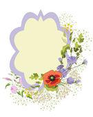 Wildflower wreath — Stock Vector