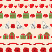 Patrón de San Valentín — Vector de stock