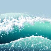 Stormachtige zee — Stockvector