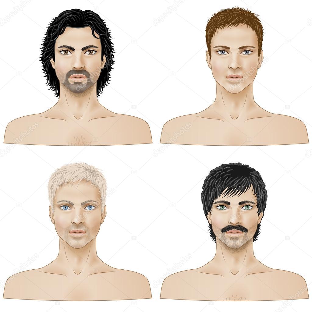 Разные прически мужиков