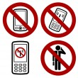 Phone forbidden icon — Stock Vector