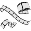 Stock Vector: Film strip roll