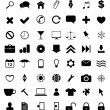 49 black icons set — Stock Vector