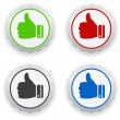 Stock Vector: Thumbs up - i like icon