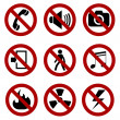 Forbidden sign set — Stock Vector #28589925
