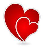 Heart label — Stock Vector