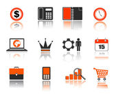 Business icons set for web — Stock Vector