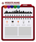 Vector edytable website template — Stock Vector