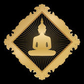 Buddha in gold — Stock Vector