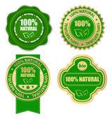 Natural 100% - elementos de design — Vetorial Stock