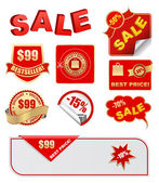 Sale tags and labels set — Stock Vector