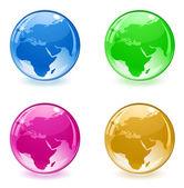 3d glossy globe web icon — Stock Vector