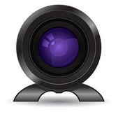 Photo and video camera lense icon 3d — Stock Vector