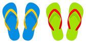 Flipflops beach sandals — Stock Vector