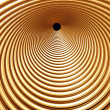 Stock Photo: Golden helix tunnel - abstract background