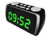 Radio alarm clock isolated on white — Stock Photo