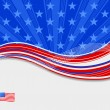 American flag independence day background — Stock Vector