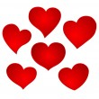 Heart valentine icon set — Vettoriali Stock