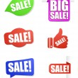 Sale price tag and banners — Stock Vector