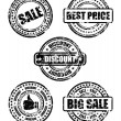 Sale business stamp set — Stock vektor