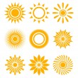 Stock Vector: Sun icon set