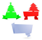 Christmas tree 3d banner — Stock Vector