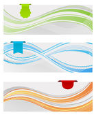 Labels and banners with tag — Stock Vector