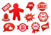 Christmas sale tags, abels and banners — Stockvector