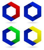 Logo abstract corporate icon — Stock Vector